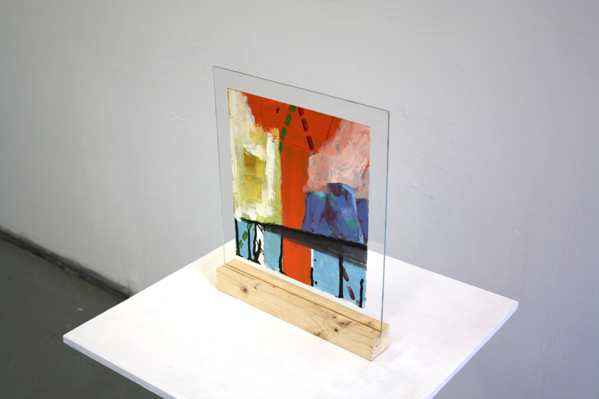 two-sided painting on plexiglass, 				 Steady Current